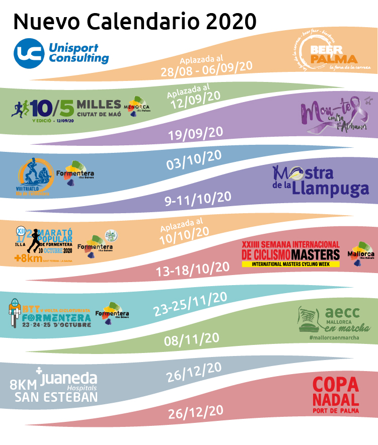 Calendario Unisport 2020